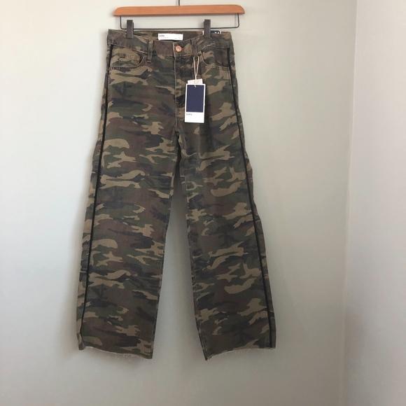 1b0123a2 Zara Jeans | Camo Crop Pants New | Poshmark